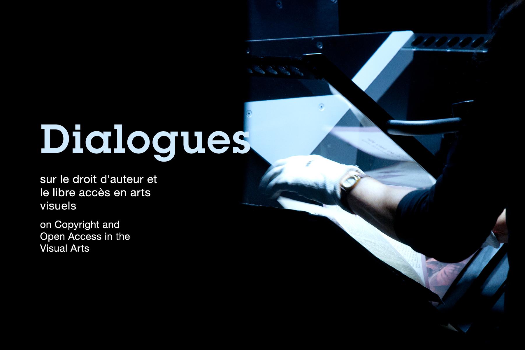 Affiche : Dialogues sur le droit d'auteur